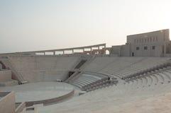 Zonsondergang bij Amfitheater Katara, Doha, Qatar Stock Fotografie
