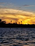 Zonsondergang bij Boipeba-Eiland Stock Fotografie
