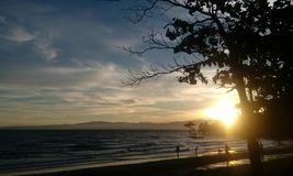 Zonsondergang bij de Baai Royalty-vrije Stock Fotografie