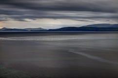 Zonsondergang bij de baai Noord- van Atlantische Oceaan Royalty-vrije Stock Afbeelding