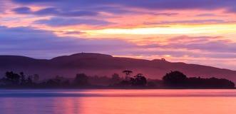Zonsondergang bij de Baai van Surat Royalty-vrije Stock Afbeelding