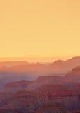 Zonsondergang bij de Grote Canion Stock Fotografie