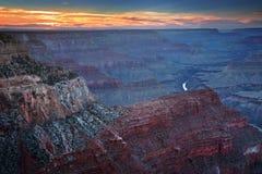 Zonsondergang bij de Grote Canion Royalty-vrije Stock Fotografie