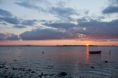 Zonsondergang bij de Inham - 2829 Royalty-vrije Stock Fotografie
