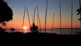 Zonsondergang bij de kust Royalty-vrije Stock Fotografie