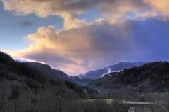 Zonsondergang bij de Nauwe vallei van de Fee Royalty-vrije Stock Afbeelding
