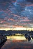 Zonsondergang bij de Pijler Stock Fotografie