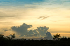 Zonsondergang bij de prairie Stock Foto's