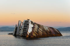 Zonsondergang bij de Zeemeeuwenschipbreuk Royalty-vrije Stock Afbeeldingen