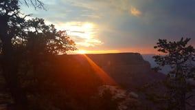 Zonsondergang bij Grote Canion royalty-vrije stock afbeelding