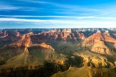 Zonsondergang bij Grote Canion stock afbeeldingen