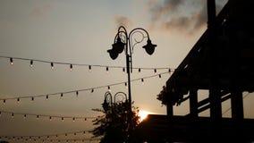Zonsondergang bij het festival stock videobeelden