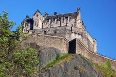 Zonsondergang bij het Kasteel van Edinburgh royalty-vrije stock foto