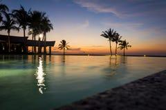 Zonsondergang bij het Keizerhotel, Brunei Stock Foto