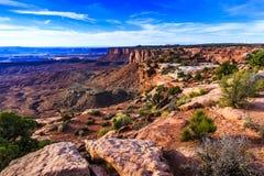 Zonsondergang bij het Nationale Park van Canyonlands Stock Foto's