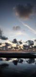 Zonsondergang bij het overzees Royalty-vrije Stock Afbeelding