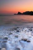 Zonsondergang bij het overzees Stock Fotografie