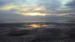 Zonsondergang bij het strand Stock Foto's