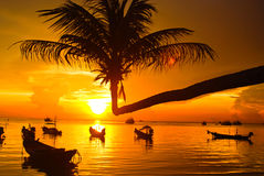Zonsondergang bij khotao Thailand Royalty-vrije Stock Fotografie