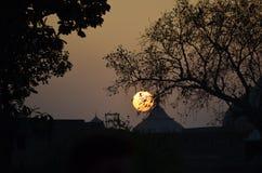 Zonsondergang bij lahore Royalty-vrije Stock Afbeelding