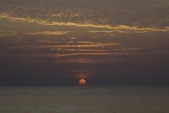 Zonsondergang bij Pilai-strand Royalty-vrije Stock Afbeeldingen