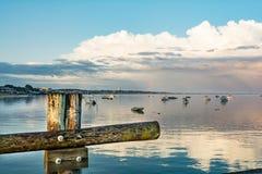 Zonsondergang bij Provincetown-Jachthaven stock foto's