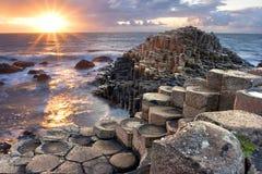 Zonsondergang bij Reuzes-verhoogde weg Royalty-vrije Stock Foto