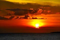 Zonsondergang bij Samui-eiland Stock Afbeeldingen