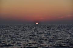 Zonsondergang bij Similan-Eiland Stock Afbeeldingen