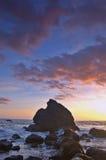 Zonsondergang bij Strand Muir stock foto