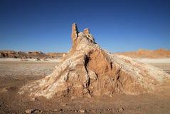 Zonsondergang bij Vallei van de Maan, San Pedro de Atacama, Chili Royalty-vrije Stock Afbeelding