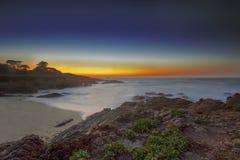 Zonsondergang bij 17 mijlen van de Aandrijving Stock Afbeelding