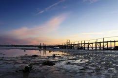Zonsondergang bij Zandbanken stock afbeeldingen