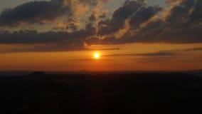 Zonsondergang in Boheems Paradijs Stock Afbeelding