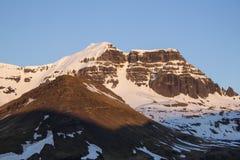 Zonsondergang in Borgarfjordur in IJsland Royalty-vrije Stock Foto's