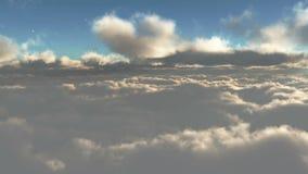 Zonsondergang boven de wolken royalty-vrije illustratie