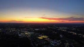Zonsondergang boven Golfkust stock foto's