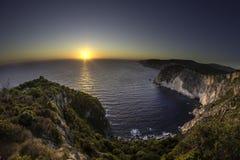 Zonsondergang boven overzees Royalty-vrije Stock Foto's
