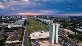Zonsondergang in Brasilia Stock Foto