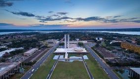 Zonsondergang in Brasilia Stock Afbeelding