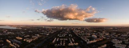 Zonsondergang in Brasilia Stock Foto's