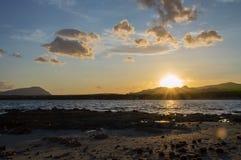 Zonsondergang in Cala Liberotto Royalty-vrije Stock Fotografie