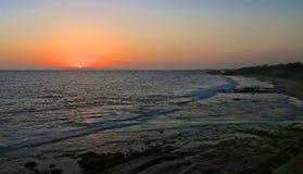 Zonsondergang Californië stock afbeeldingen