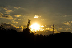 Zonsondergang in Canalitos Royalty-vrije Stock Afbeelding
