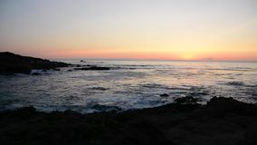 Zonsondergang Carmel door het overzees stock videobeelden