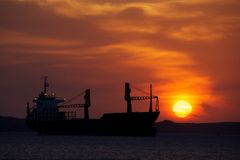 Zonsondergang in Cienfuegos, Cuba Royalty-vrije Stock Afbeeldingen