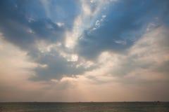 Zonsondergang cloudscape Royalty-vrije Stock Foto