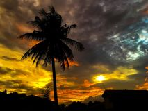 Zonsondergang Cloudscape Stock Fotografie