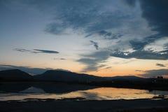Zonsondergang in Cody, Wyoming royalty-vrije stock foto's