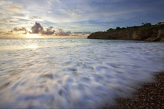 Zonsondergang Curacao Royalty-vrije Stock Afbeeldingen